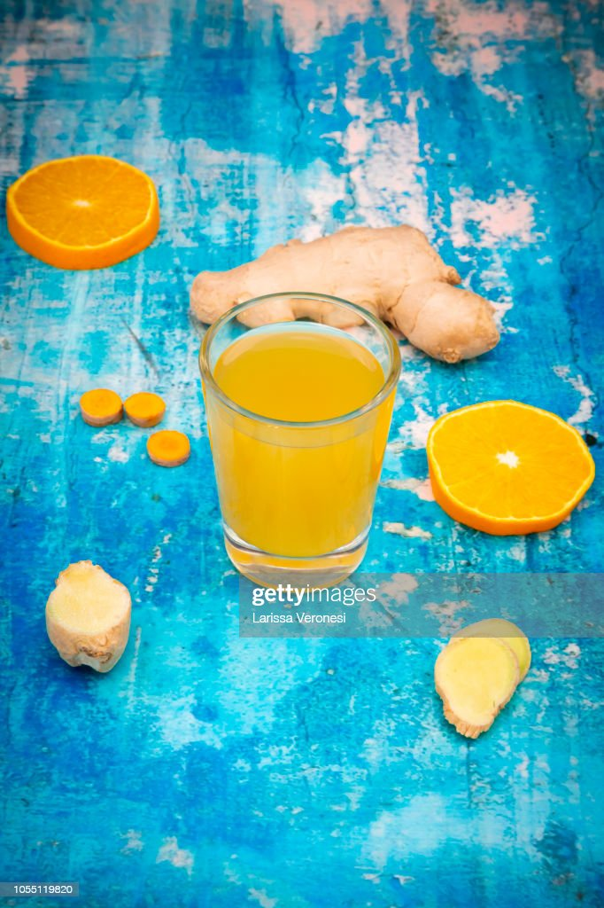 Ginger Shot : Stock Photo
