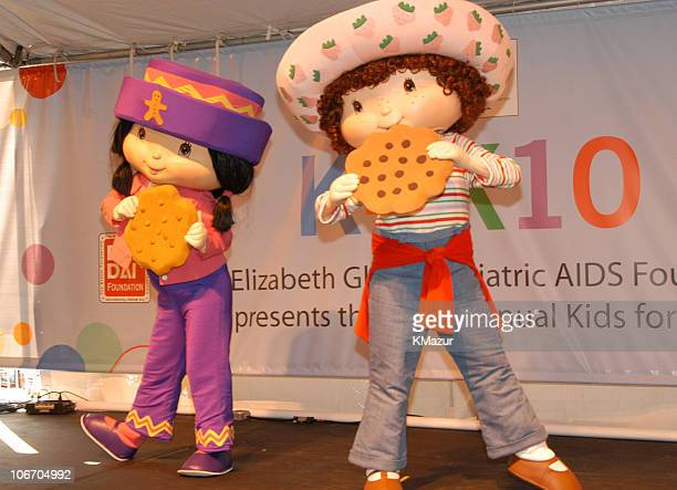 Ginger Snap and Strawberry Shortcake during 10th Annual Kids for Kids Celebrity Carnival to benefit the Elizabeth Glaser Pediatric AIDS Foundation...
