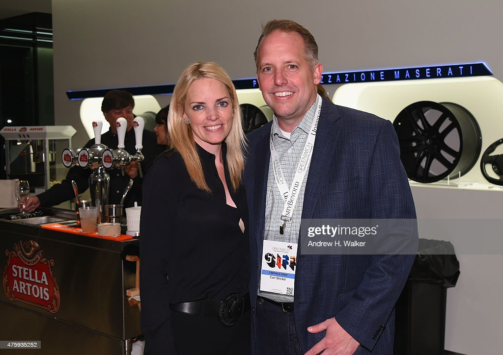 Ginger Stickel and Carl Stickel attend Greenwich Film Festival 2015 - Sports Guys On Sports Movies After Party at Miller Motorcars on June 4, 2015 in Greenwich, Connecticut.