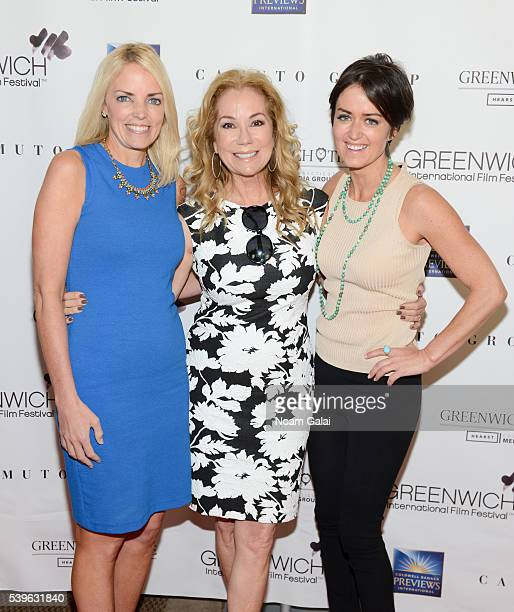 Ginger Stickel, Kathie Lee Gifford and Wendy Reyes attend 'From book to screen' panel during the 2016 Greenwich International Film Festival on June...