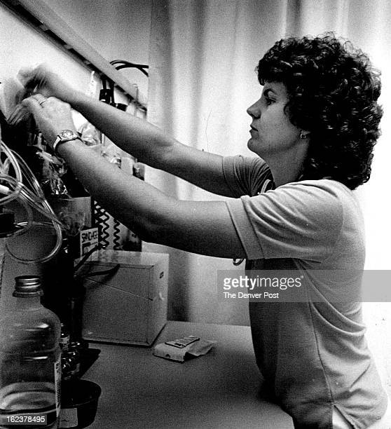 AUG 2 1983 SEP 7 1983 Ginger Weita Weitzel straightens up the emergency room at St Anthony's north hospital Weitzel is the leader of Nurses for...