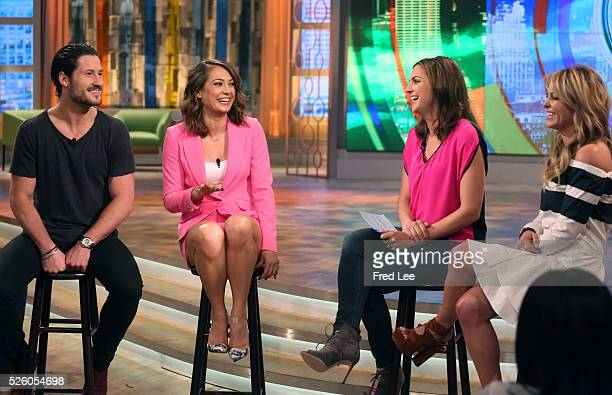 THE VIEW Ginger Zee and Val Chmerkovskiy visit THE VIEW 4/28/16 airing on the Walt Disney Television via Getty Images Television Network BURE