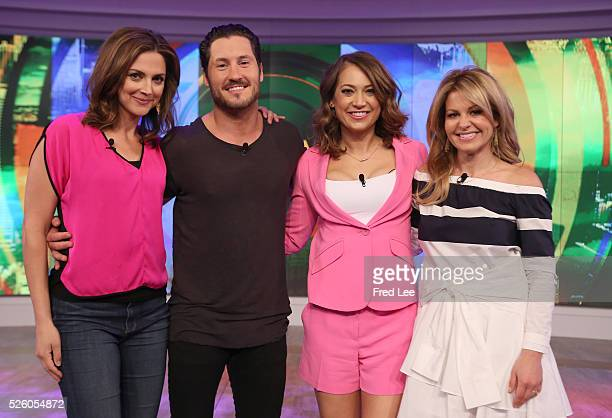 THE VIEW Ginger Zee and Val Chmerkovskiy visit 'THE VIEW' 4/28/16 airing on the ABC Television Network BURE