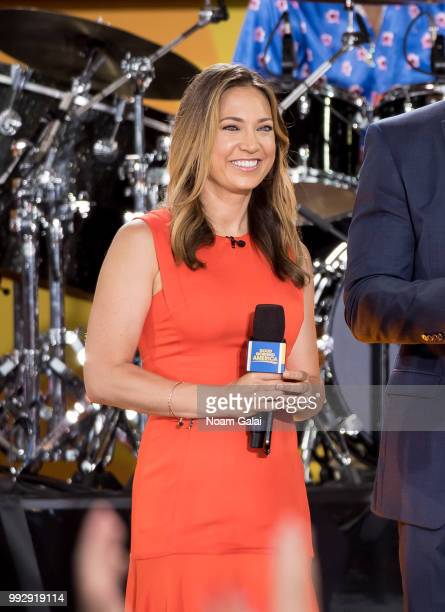 Ginger Zee attends ABC's 'Good Morning America' at Rumsey Playfield Central Park on July 6 2018 in New York City