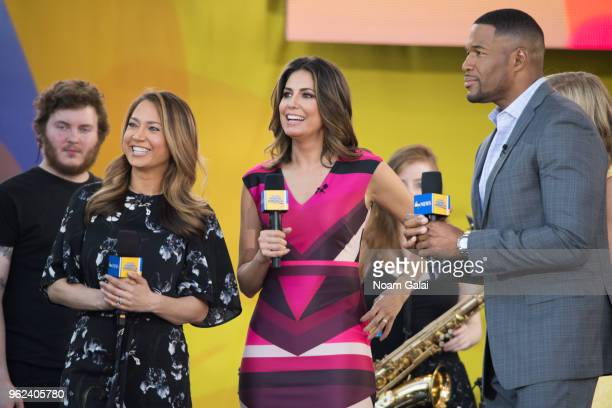 Ginger Zee Cecilia Vega and Michael Strahan attend Good Morning America at SummerStage at Rumsey Playfield Central Park on May 25 2018 in New York...