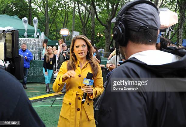 AMERICA Ginger Zee gives the weather forecast from the GMA Summer Concert Series from Central Park in New York City on GOOD MORNING AMERICA 5/24/13...