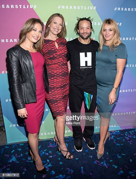 Ginger Zee Hannah Storm Savion Glover and Daphne Oz attend the HearstLive Launch at Hearst Tower on September 27 2016 in New York City