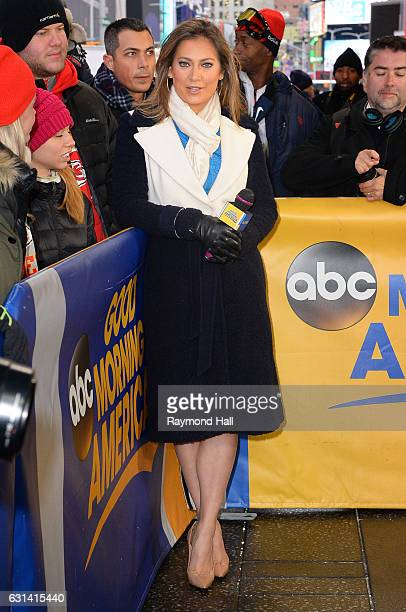 Ginger Zee is seen on the set of 'Good Morning America' on January 10 2017 in New York City