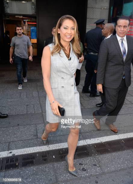 Ginger Zee is seen outside Good Morning Americaon September 4 2018 in New York City