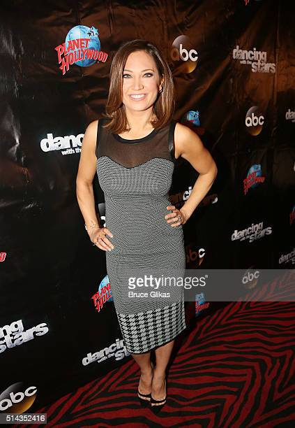 Ginger Zee poses at the 22nd Season Stars of ABC's 'Dancing With The Stars' cast announcement at Planet Hollywood Times Square on March 8 2016 in New...