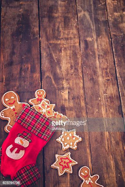 Gingerbread Cookies and Christmas Ornaments Decoration