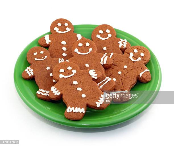gingerbread cookies - gingerbread man stock photos and pictures