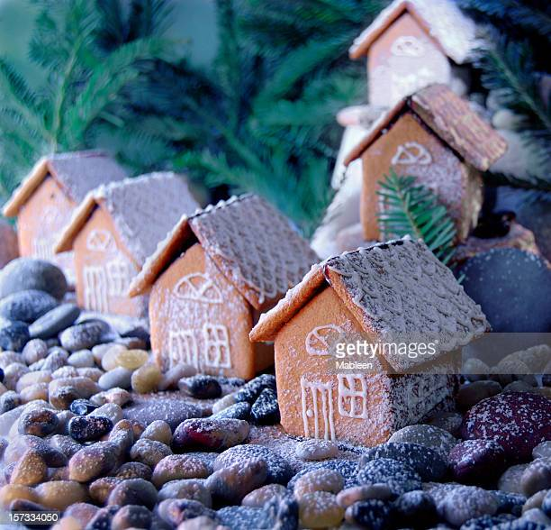 Gingerbread cottages, shallow DOF, hand made by yours truly