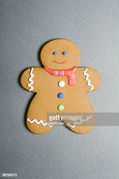 gingerbread man cookie - gingerbread man stock photos and pictures