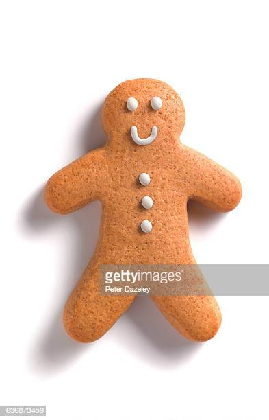 gingerbread man/woman - gingerbread men stock pictures, royalty-free photos & images