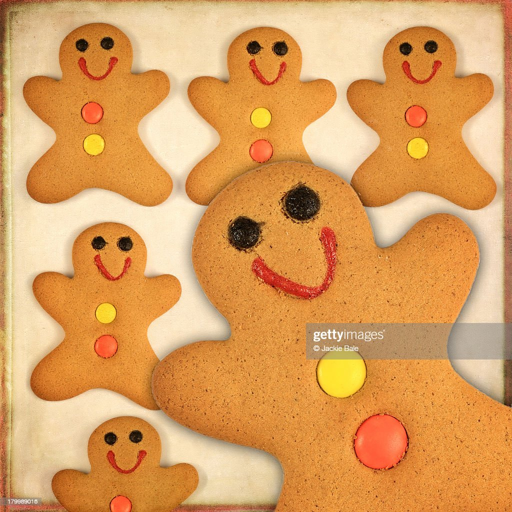 Gingerbread Men Biscuits Stock Photo Getty Images