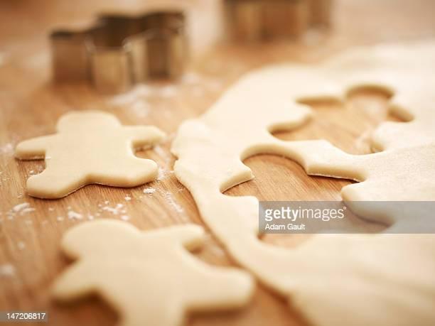 Gingerbread men cookie dough