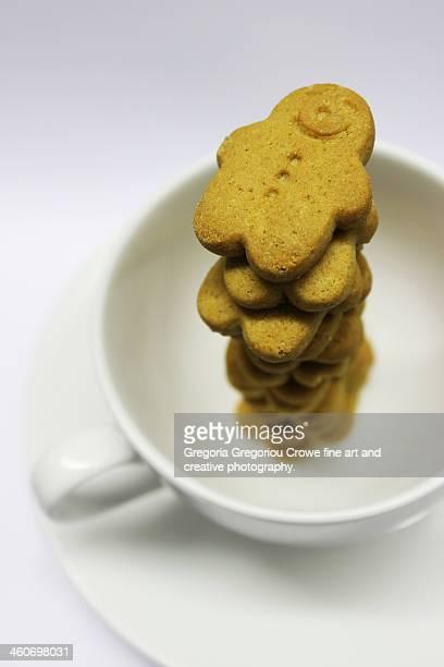 gingerbread men cookies - gregoria gregoriou crowe fine art and creative photography stockfoto's en -beelden