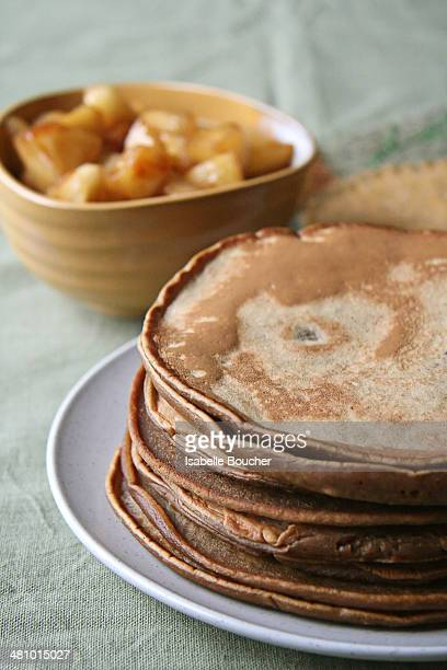 Gingerbread Pancakes and Apple Compote
