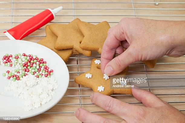 gingerbread stars, cookies - andrew dernie stock pictures, royalty-free photos & images