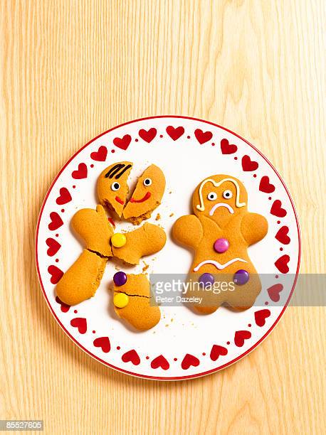 Gingerbread-man and woman.