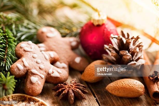 gingerbrerad man pine branch christmas decoration