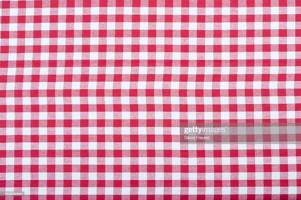 Gingham Fabric Texture : Stock Photo