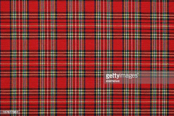 gingham pattern fabric - scotland stock pictures, royalty-free photos & images
