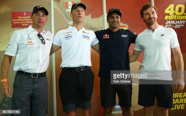 Giniel De Villiers of South Africa and Toyota Gazoo Bernhard Ten Brinke Nasser AlAttiyah of Qatar and Toyota Gazoo Racing and Andre Villas Boas of...