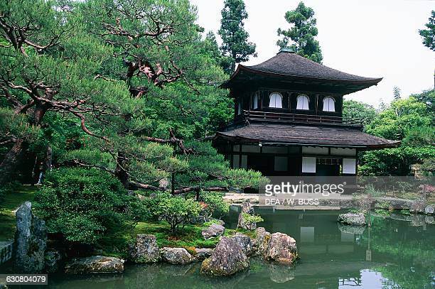 Ginkakuji temple or Temple of the Silver pavilion Kyoto Kansai Japan 15th century