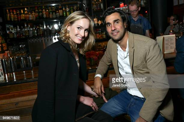 Ginna Le Vine and Fillipe Martinez attend Rachel Lee Hovnanian The Women's Trilogy Project Part 2 Happy Hour After Party at Porchlight on April 19...