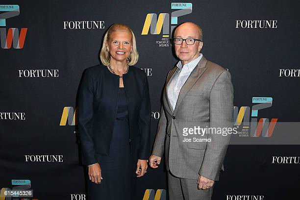 Ginni Rometty and Alan Murray attend the Fortune Most Powerful Women Summit 2016 at RitzCarlton Laguna Niguel on October 18 2016 in Dana Point...