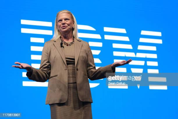 Ginni Rometty CEO of IBM speaks during the press days at the 2019 IAA Frankfurt Auto Show on September 11 2019 in Frankfurt am Main Germany The IAA...