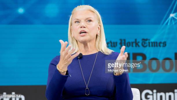 Ginni Rometty Chairman President and CEO IBM speaks onstage at 2019 New York Times Dealbook on November 06 2019 in New York City