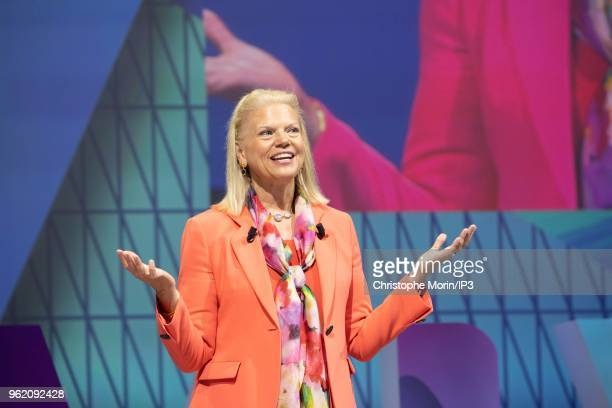 Ginni Rometty chief executive officer of International Business Machines Corp attends the Viva Tech startup and technology gathering at Parc des...