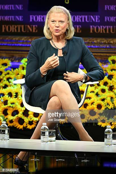 Ginni Rometty speaks onstage at the Fortune Most Powerful Women Summit 2016 at RitzCarlton Laguna Niguel on October 18 2016 in Dana Point California