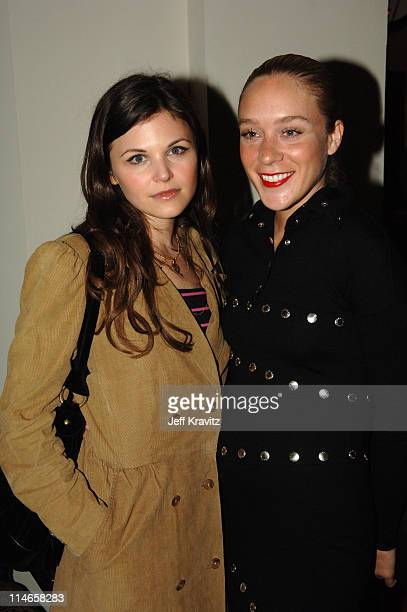 Ginnifer Goodwin and Chloe Sevigny during HBO's Annual PreGolden Globes Private Reception at Chateau Marmont in Los Angeles California United States