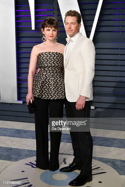 Ginnifer Goodwin and Josh Dallas attend the 2019 Vanity Fair Oscar Party hosted by Radhika Jones at Wallis Annenberg Center for the Performing Arts...