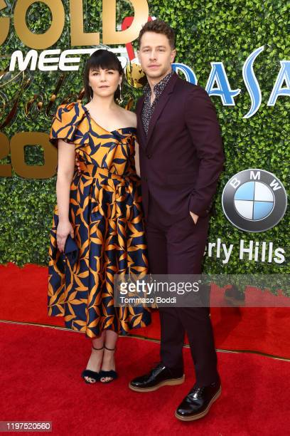 Ginnifer Goodwin and Josh Dallas attend the 7th Annual Gold Meets Golden at Virginia Robinson Gardens and Estate on January 04, 2020 in Los Angeles,...