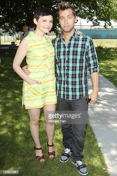 Ginnifer Goodwin and Lance Bass attend The Environmental Media Association's 3rd Annual Garden Luncheon held at Carson Senior High School on June 6...