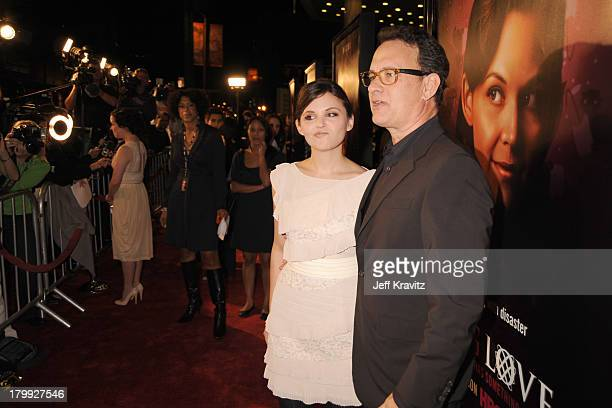 Ginnifer Goodwin and Tom Hanks attend the Big Love third season premiere held at the Cinerama Dome on January 14 2009 in Los Angeles California