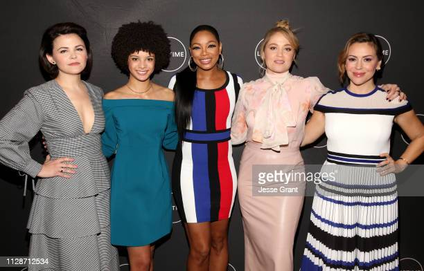 Ginnifer Goodwin Angela Fairley Tiffany Hines Erica Christensen and Alyssa Milano attend Lifetime's Female Directors and Leading Actresses 2019...