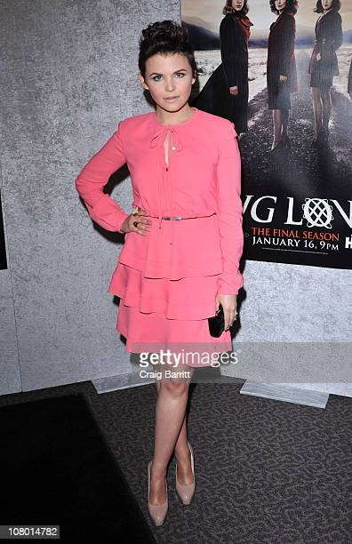 Ginnifer Goodwin attends HBO's Big Love Season 5 party at the Directors Guild Of America on January 12 2011 in Los Angeles California