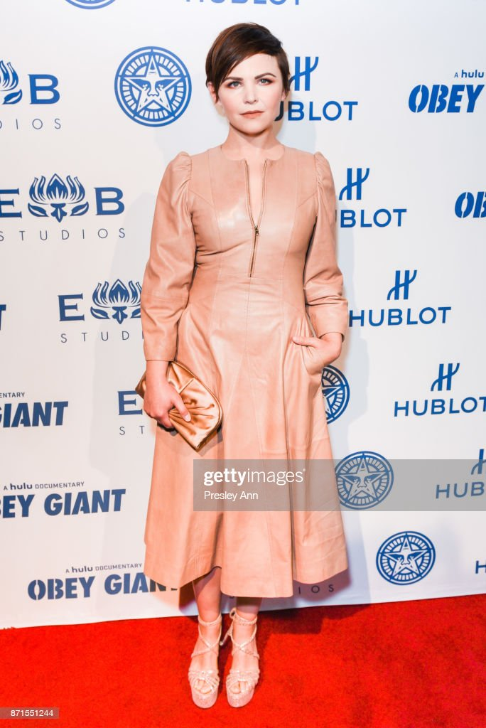 Ginnifer Goodwin attends Photo Op For Hulu's 'Obey Giant' at The Theatre at Ace Hotel on November 7, 2017 in Los Angeles, California.