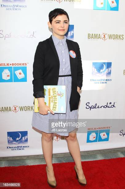 Ginnifer Goodwin attends the 4th Annual Milk Bookies Story Time Celebration at Skirball Cultural Center on March 10 2013 in Los Angeles California
