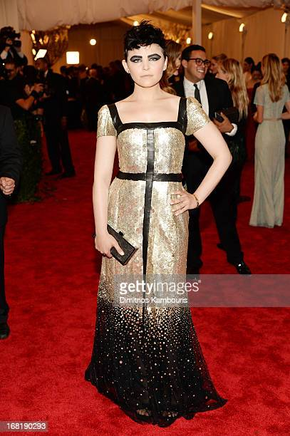 Ginnifer Goodwin attends the Costume Institute Gala for the PUNK Chaos to Couture exhibition at the Metropolitan Museum of Art on May 6 2013 in New...