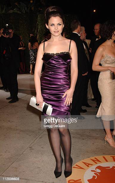 Ginnifer Goodwin during 2007 Vanity Fair Oscar Party Hosted by Graydon Carter Arrivals at Mortons in West Hollywood California United States