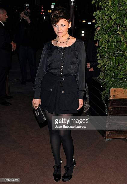 Ginnifer Goodwin is sighted attending the Chanel and Charles Finch preOscar party celebrating fashion and film at Madeo restaurant on February 26...