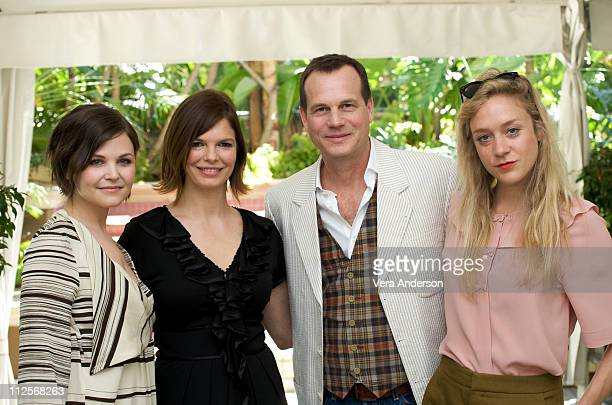 Ginnifer Goodwin Jeanne Tripplehorn Bill Paxton and Chloe Sevigny at the Big Love press conference at the Four Seasons Hotel on April 21 2009 in...