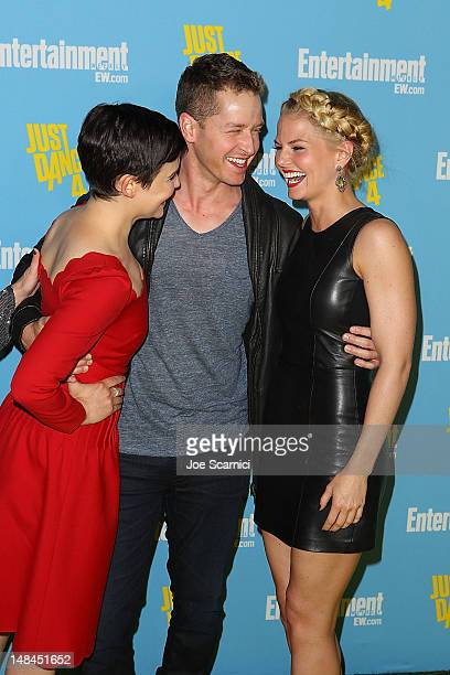 Ginnifer Goodwin Josh Dallas and Jennifer Morrison arrive at Entertainment Weekly's ComicCon Celebration at Float at Hard Rock Hotel San Diego on...